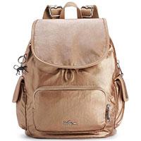 Золотистый рюкзак Kipling Basic Plus LM City Pack S, фото