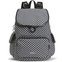 Черно-белый рюкзак Kipling Basic Plus LM City Pack S, фото