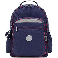 Синий рюкзак Kipling BTS Plus Seoul Go с брелком, фото