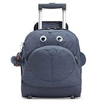 Детский чемодан Kipling Big Wheely 30x36x19см на 2 колесах синего цвета, фото