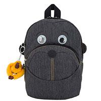Темно-серый рюкзак Kipling BTS Faster с желтой обезьянкой, фото