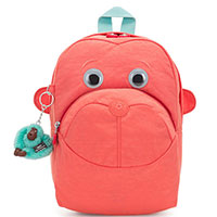 Розовый рюкзак Kipling BTS Faster с пушистым брелком, фото