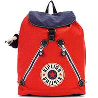 Красный рюкзак Kipling Basic Fundamental среднего размера, фото
