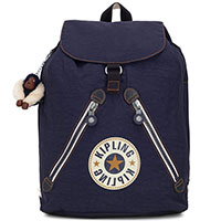 Синий рюкзак Kipling Basic Fundamental с брелком-обезьяной, фото