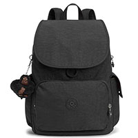 Рюкзак Kipling Basic City Pack True Black с брелком, фото