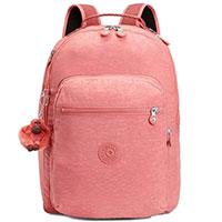 Розовый рюкзак Kipling Basic Clas Seoul с брелком, фото
