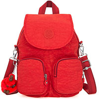 Женский рюкзак Kipling Basic Firefly Up красного цвета, фото