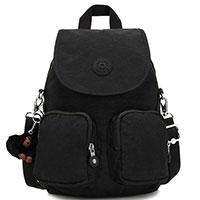 Черный рюкзак Kipling Basic Firefly Up с брелком-обезьянкой, фото