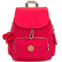 Ярко-красный рюкзак Kipling Basic City Pack S, фото