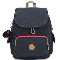 Синий рюкзак Kipling Basic City Pack S со съемным брелком, фото