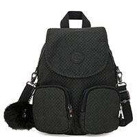 Рюкзак в клетку Kipling Basic Plus Firefly Up Powder Black, фото