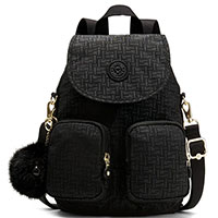 Рюкзак Kipling Basic Plus Firefly Up Black Pylon Emb, фото