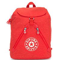 Красный рюкзак Kipling New Classics Fundamental Nc с силиконовым брелком, фото