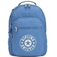 Голубой рюкзак Kipling New Classics Clas Seoul большого размера, фото
