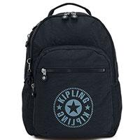 Темно-синий рюкзак Kipling New Classics Clas Seoul с отделением для ноутбука, фото