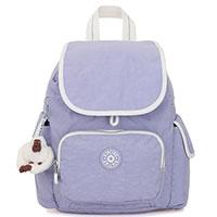 Лиловый рюкзак Kipling Basic City Pack Mini, фото