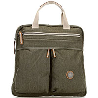 Рюкзак-сумка цвета хаки Kipling Edgeland Plus Komori S, фото