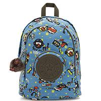 Рюкзак с принтом Kipling BTS Carlow голубого цвета, фото