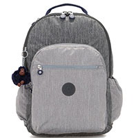 Серый рюкзак Kipling BTS Seoul Go XL с отделением для ноутбука, фото