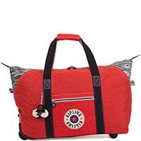 Красная сумка на 2-х колесах Kipling Basic Art On Wheels, фото