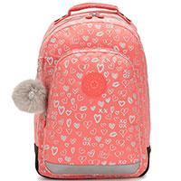 Рюкзак для девочки Kipling BTS Class Room с сердечками, фото