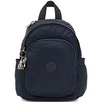 Темно-синий рюкзак Kipling Twill Plus Delia Mini маленького размера, фото