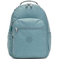 Голубой рюкзак Kipling Basic Seoul с отделением для ноутбука, фото