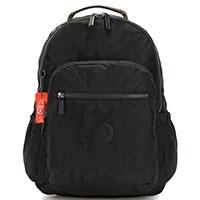 Черный рюкзак Kipling Boost It Plus Seoul Go с камуфляжной расцветкой, фото