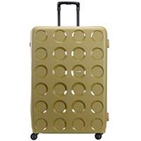 Зеленый дорожный чемодан 55,8x80x34,5см Lojel Vita очень большого размера с тиснением, фото
