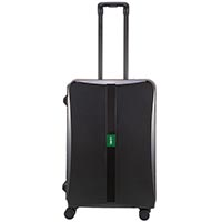 Черный матовый чемодан 43,6x64,8x26,8см Lojel Octa 2 среднего размера на 4 замках, фото