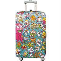 Яркий чехол для чемодана Loqi Brosmind Medium, фото