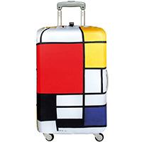 Защитный чехол для чемодана Loqi Museum Piet Mondrian Composition Medium, фото