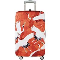 Чехол для чемодана Loqi Museum Woman's Haori White & Red Cranes Medium, фото