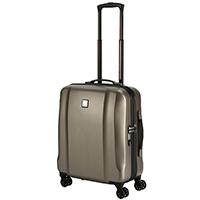 Маленький бежевый чемодан 56x45х25см Titan Xenon Deluxe на колесах, фото