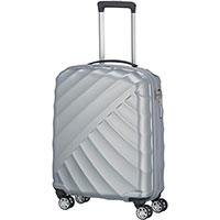 Маленький чемодан 40x55x20см Titan Shooting Star серебристый, фото