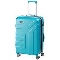 Среднего размера чемодан 70x45x27-31см Travelite Vector в голубом цвете, фото