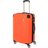 Оранжевый большой чемодан Travelite City 44x68x28см, фото