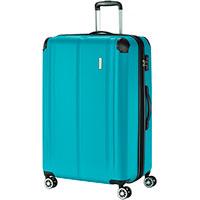Чемодан голубой Travelite City  49x77x32см на колесах, фото