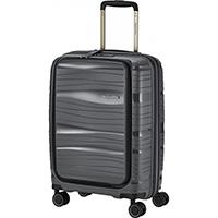 Серый чемодан 39x55x23см Travelite Motion с отделением для ноутбука, фото