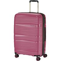Чемодан на колесах 45x67x27см Travelite Motion розового цвета, фото