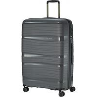 Большой серый чемодан 51x77x30см Travelite Motion на колесах, фото