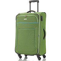 Зеленый чемодан на колесах Travelite Derby 43x77x27/31см, фото