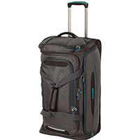 Дорожная сумка на колесах Travelite Crosslite серого цвета, фото
