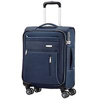 Синий чемодан 55x38х20см Travelite Capri маленького размера с удвоенными колесами, фото