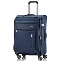 Чемодан 66x42x26-30см Travelite Capri из прочного текстиля синего цвета, фото