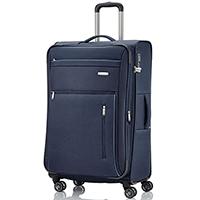 Синий чемодан большого размера 76x46х30-34см Travelite Capri с функцией расширения, фото