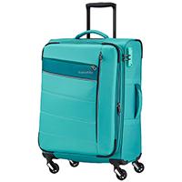 Мятного цвета чемодан 66x42x26-30см Travelite Kite на 4х колесах, фото