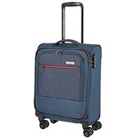 Маленький чемодан 39x55x20см Travelite Arona синего цвета, фото