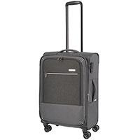 Средний чемодан 42x66x26-30см Travelite Arona серого цвета, фото