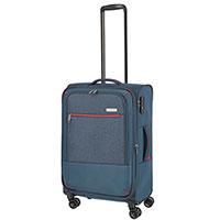 Средний чемодан 42x66x26-30см Travelite Arona синего цвета, фото
